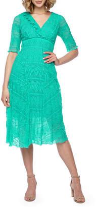 Rabbit Rabbit Rabbit DESIGN Design Elbow Sleeve Lace Dress