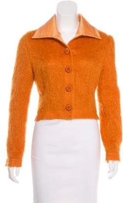 Christian Dior Mohair & Wool Cropped Jacket