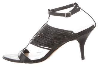 Loeffler Randall Leather Ankle Strap Sandals