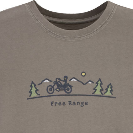 Life is Good Men's Free Range Motorcycle Short Sleeve Crusher Tee