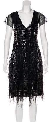 Oscar de la Renta Embellished Evening Dress