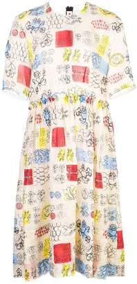 Marni printed flared dress