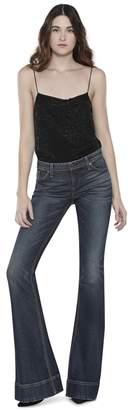 Alice + Olivia Harmon Sequin Drapey Slip Tank