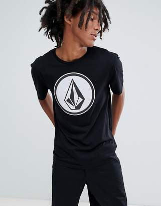 Volcom T-Shirt With Large Logo In Black