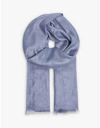 Brunello Cucinelli Metallic cashmere-silk blend scarf