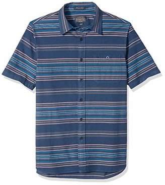 Pendleton Men's Short Sleeve Fitted Kay Street Stripe Shirt