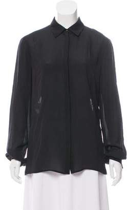 Elie Saab Lace-Paneled Silk Top w/ Tags