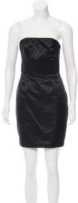 Adam Satin Strapless Dress