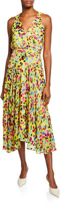 Saloni Rita Short-D Floral Midi Dress