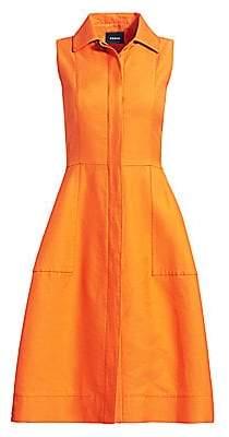 Akris Women's Sleeveless Cotton & Silk Shirtdress