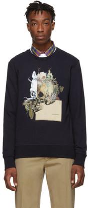 Alexander McQueen Navy Patchwork Skull Sweatshirt