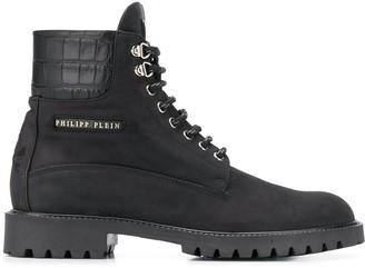 Philipp Plein lace up boots