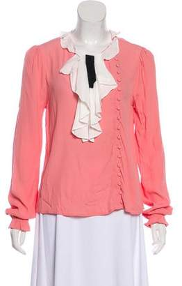 For Love & Lemons Long Sleeve Button-Up Top