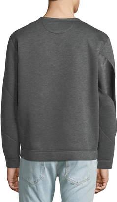Valentino Men's Jersey Wear Leather-Stripe Sweatshirt