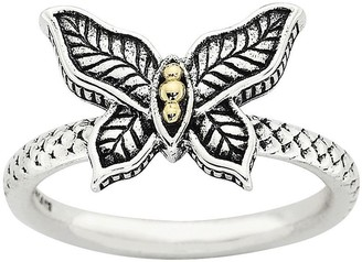 Simply Stacks Sterling Two-Tone Butterfly Ring