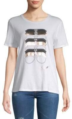 Stretch Cotton Sunglasses-Print Tee