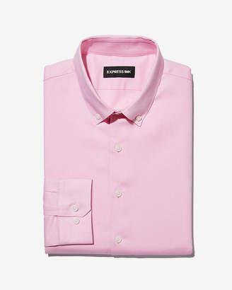 Express Extra Slim Twill Button Down 1Mx Shirt