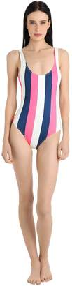 Solid & Striped Anne-Marie Striped Lycra Swimsuit