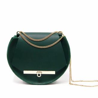 Angela Valentine Handbags Loel Mini Military Bee Crossbody & Clutch In Emerald Green