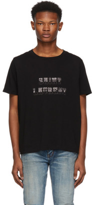 Saint Laurent Black Western Logo T-Shirt