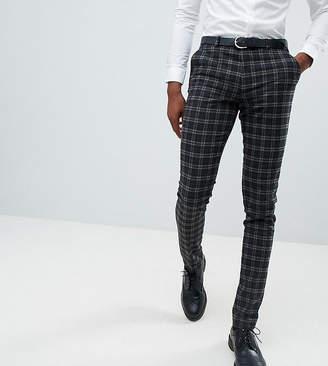 Asos DESIGN Tall super skinny suit pants in tonal gray check