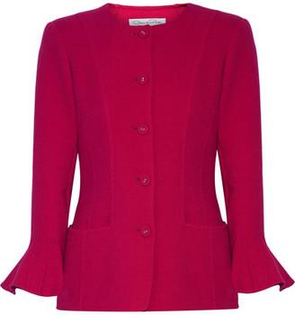 Oscar de la Renta - Stretch Wool-blend Jacket - Magenta $2,390 thestylecure.com