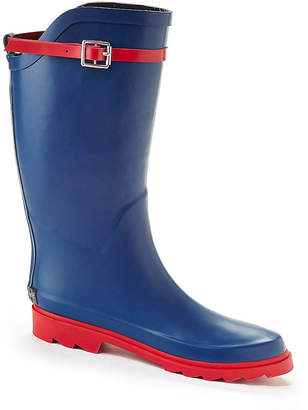 HENRY FERRERA Henry Ferrera Nu Face Belted Tall Rubber Rain Boots