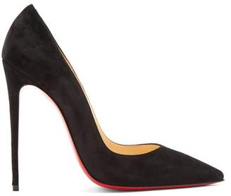 Christian Louboutin So Kate 120 Suede Pumps - Womens - Black