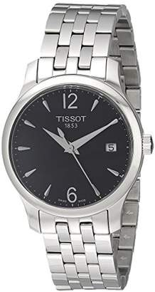 Tissot Women's Analogue Watch with Black Dial Analogue