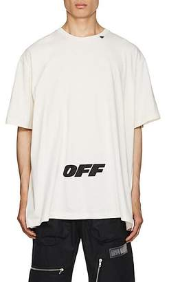 Off-White Off - White c/o Virgil Abloh Men's Logo Cotton Oversized T-Shirt - White