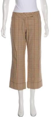 Diane von Furstenberg Mid-Rise Wide-Leg Pants Brown Mid-Rise Wide-Leg Pants