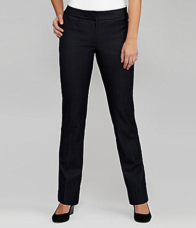T Tahari Versaille Flat-Front Pants