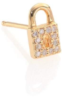 f1a982ea4 Sydney Evan Diamond & 14K Yellow Gold Lock Single Stud Earring