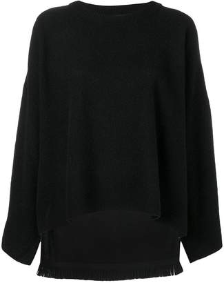 Y's boxy crewneck sweater