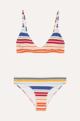 Stella McCartney Striped Triangle Bikini - White