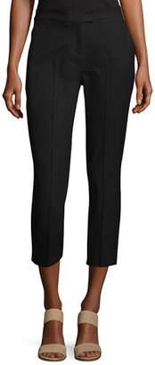 Misook Stretch-Cotton Cropped Pants, Plus Size