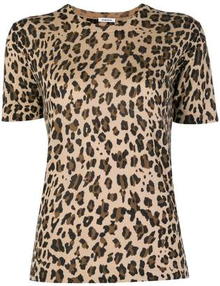 P.A.R.O.S.H. leopard print knitted T-shirt