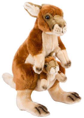NEW National Geographic Kangaroo and Joey 44cm