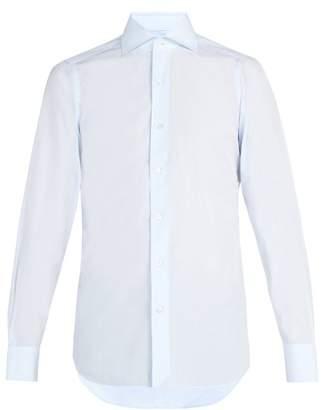Finamore 1925 - Slim Fit Cotton Poplin Shirt - Mens - Light Blue