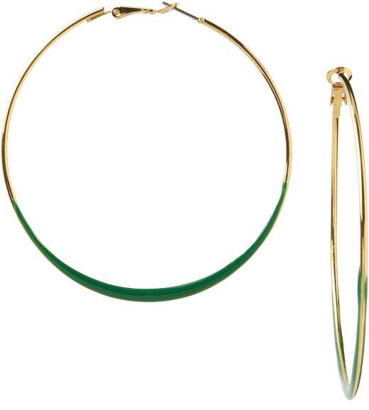 Women's Round Enamel Hoops