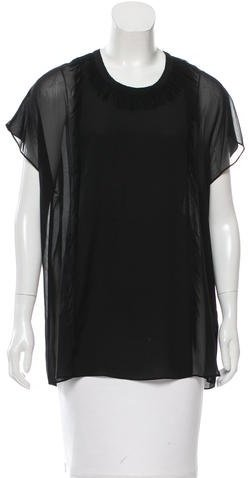 3.1 Phillip Lim 3.1 Phillip Lim Fringe-Trimmed Silk Top w/ Tags