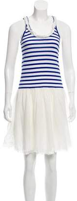 Sacai Luck Striped Skater Dress
