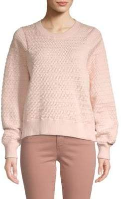 3.1 Phillip Lim Silk-Blend Textured Slouchy Pullover