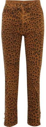 Saint Laurent Leopard-print High-rise Slim-leg Jeans - Leopard print