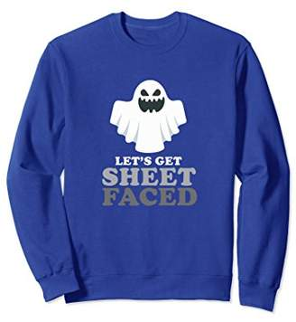 Let's Get Sheet Faced Halloween Drinking Sweatshirt