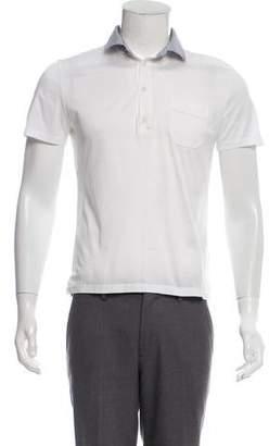 Miu Miu Striped Accented Polo Shirt