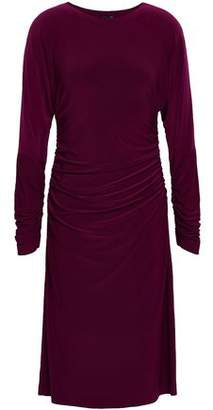 Norma Kamali Shirred Stretch-Jersey Dress