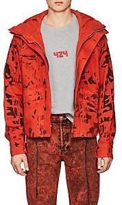 424 Men's Camouflage Cotton Denim Crop Anorak - Orange