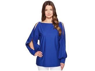 Escada Nytal Puffy Long Sleeve Top Women's Clothing