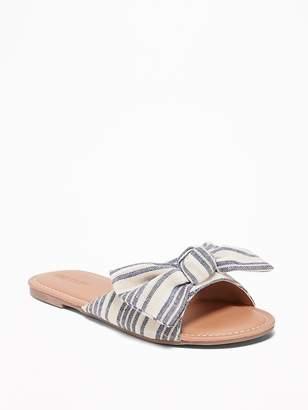Old Navy Bow-Tie Capri Slide Sandals for Girls